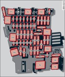 Schema Elettrico Alzacristalli : Schema di collegamento dei fusibili nellabitacolo dell audi a3